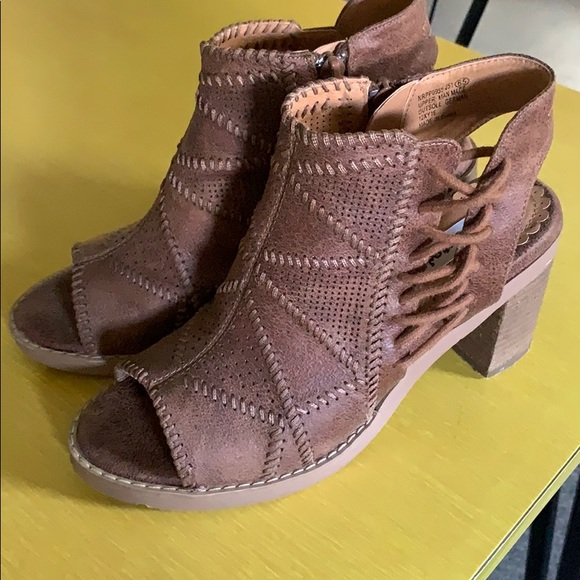 not rated open toe booties